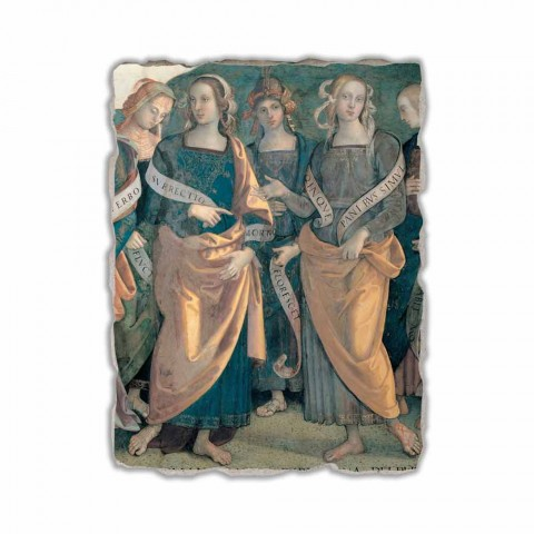 "Fresco Perugino ""Lord of the Angels, Profeten en Sibillen"" deel."