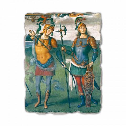 """Perugino fresco """"The Fortress, Temperance en zes helden van de Oudheid"""""""