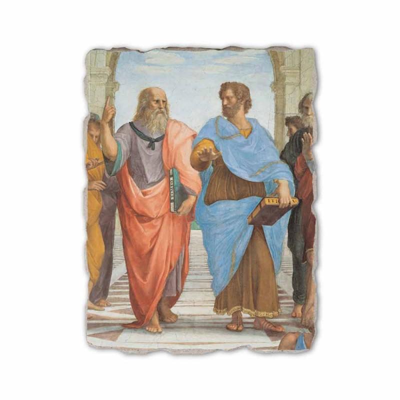 """Raffaello Sanzio fresco """"School van Athene"""" deel. Plato en Artistotele"""