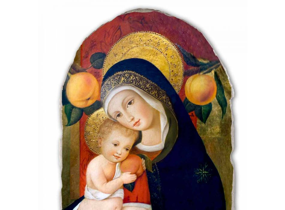 "reproductie Fresco Carlo Crivelli ""Madonna en Kind"" XV eeuw"