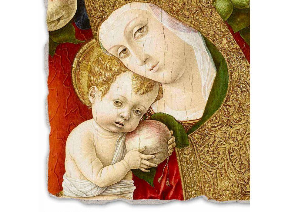 """Fresco reproductie Carlo Crivelli """"Madonna Lochis"""" 1475"""