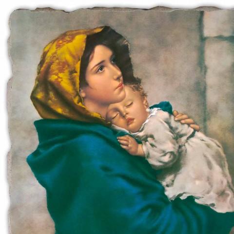 """Fresco reproductie handgemaakte Ferruzzi """"Onze Lieve Vrouw van Rust"""""""