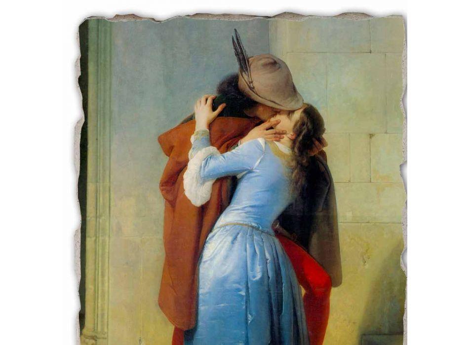 Fresco reproductie handgemaakt in Italië Hayez The Kiss