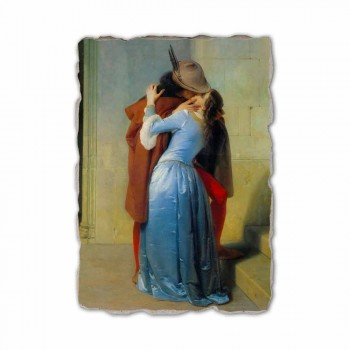 Fresco reproductie handgemaakt in Italië Hayez The Kiss