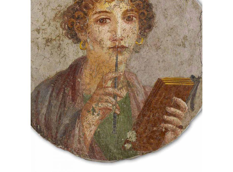 """Fresco reproductie made in Italy Roman """"The Poet"""""""