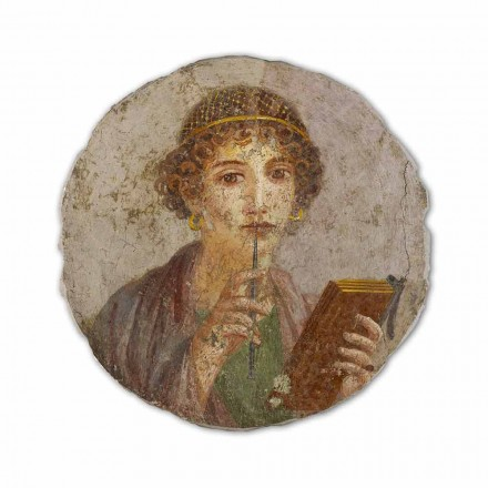 "Fresco reproductie made in Italy Roman ""The Poet"""