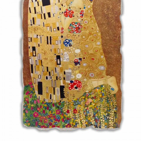 "Fresco reproductie made in Italy Gustav Klimt ""De Kus"""