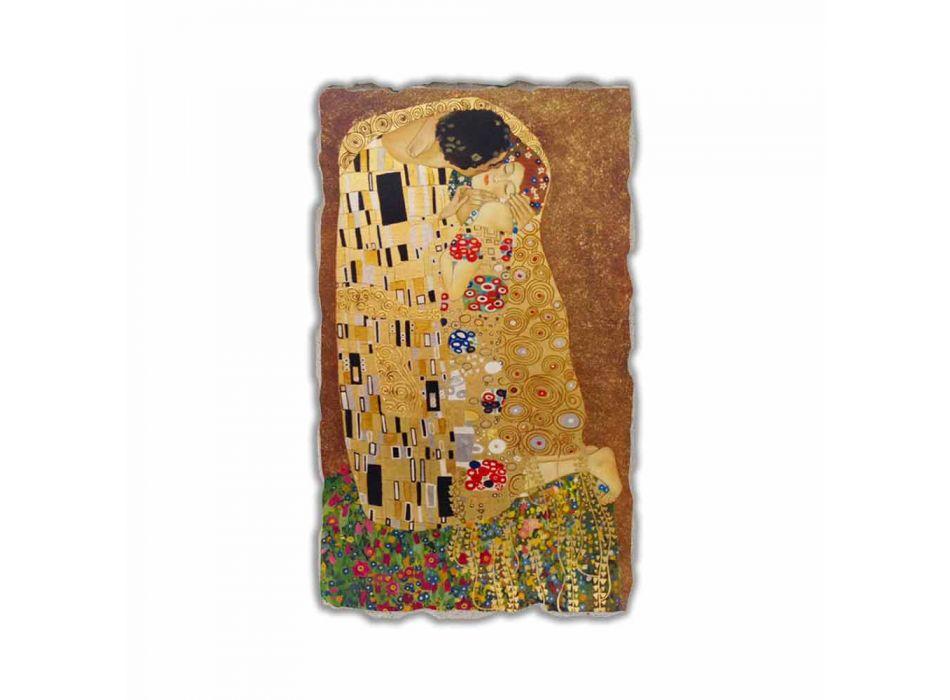 "Fresco reproductie made in Italy Gustav Klimt ""De Kus"""