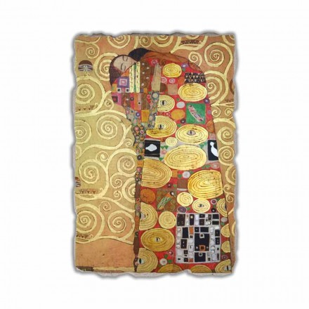 "Fresco reproductie made in Italy Gustav Klimt ""De omhelzing"""