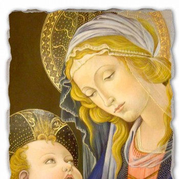 """Fresco geweldige combinatie Botticelli """"Madonna van het Boek"""""""