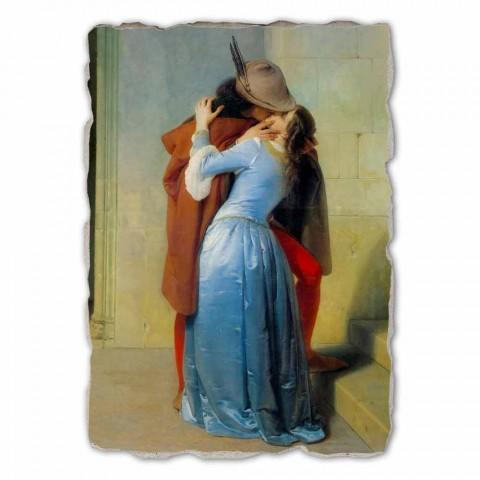 Fresco grote reproductie gedaan in Italië Hayez The Kiss