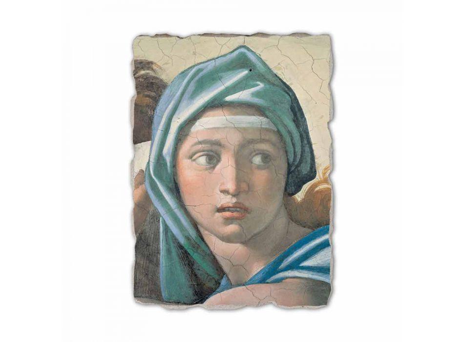 """Fresco Michelangelo reproductie """"Orakel van Delphi"""""""