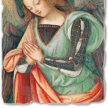 """Fresco Pinturicchio spelen """"Nativity"""" deel. Angelo"""