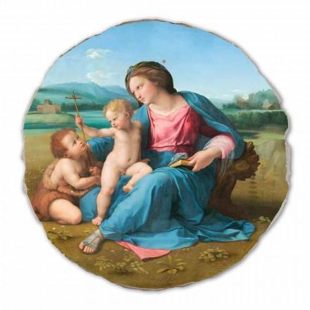 """Fresco reproductie Raffaello Sanzio """"Alba Madonna"""", 1510"""