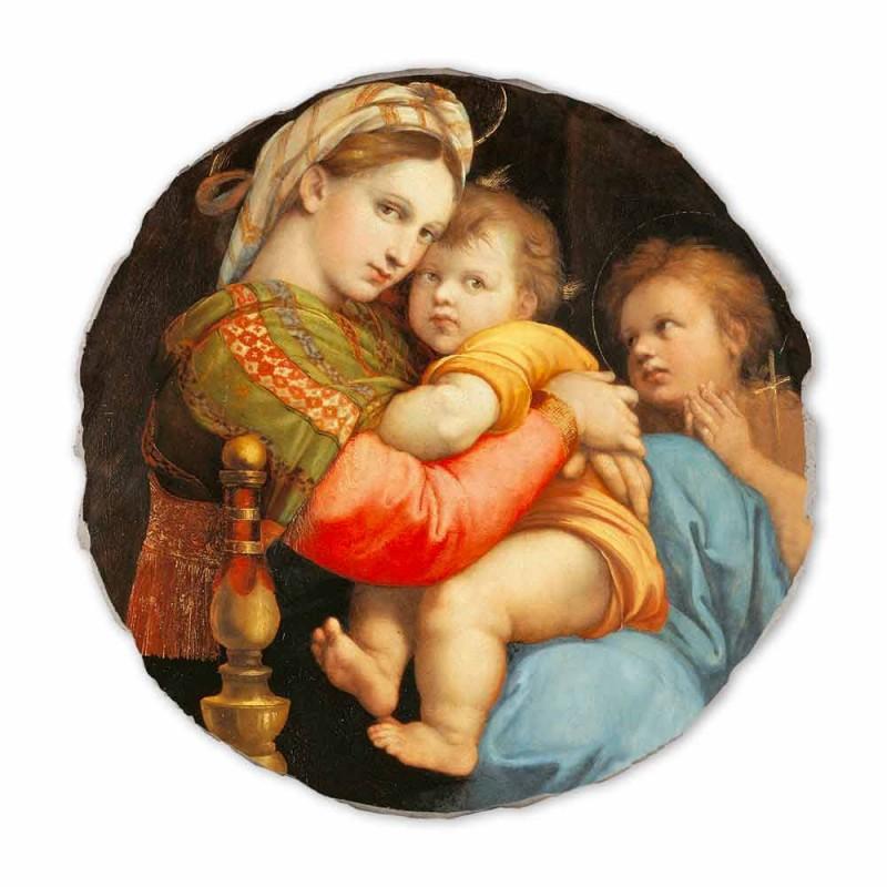 "Fresco reproductie Raffaello Sanzio ""Madonna van de voorzitter"""