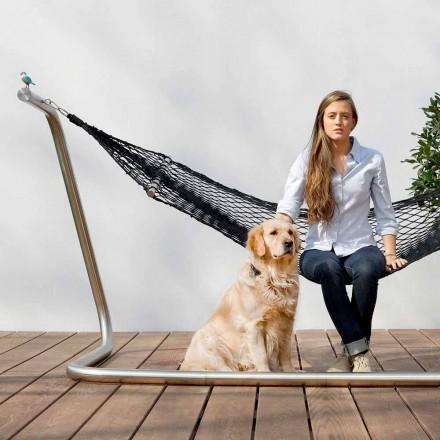 Hangmat in staal en zwart tuinontwerp Made in Italy - Cumberland