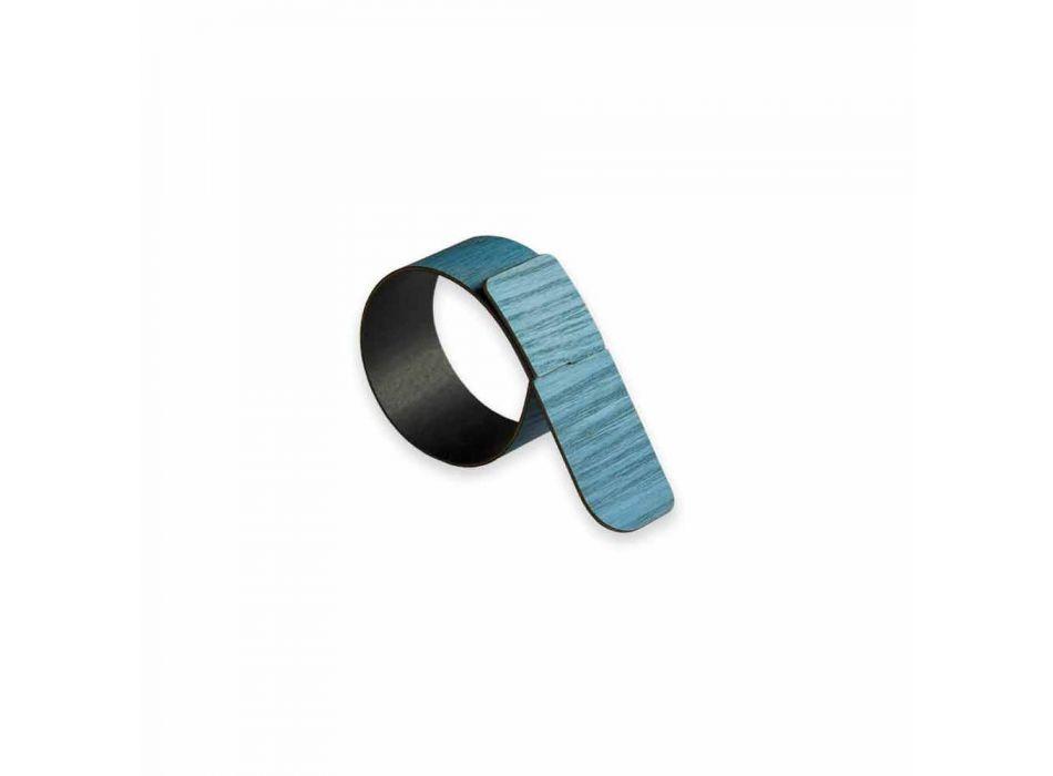 Ring servetring in hout en stof gemaakt in Italië - Abraham