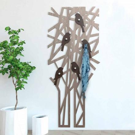 Wandkapstok in gekleurd hout met een modern design - Alberuccell