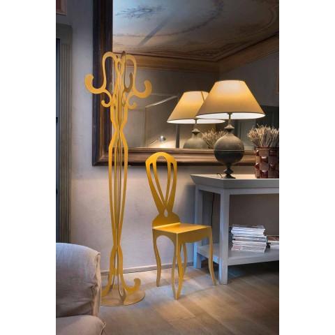 Acht Hook Iron Design kapstok gemaakt in Italië - Giunone