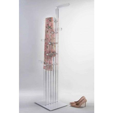 Moderne gegoten vloer kleerhanger in acryl kristal, Elva