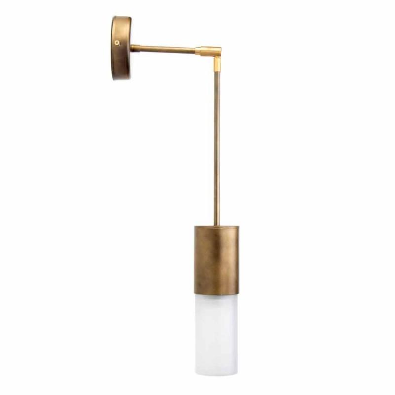 Ambachtelijke wandlamp in aluminium en satijnglas Made in Italy - Master