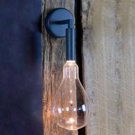Buitenwandlamp van ijzer en aluminium met LED inbegrepen Made in Italy - Luccico