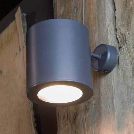 Buitenwandlamp van ijzer en aluminium met led inbegrepen Made in Italy - Rango