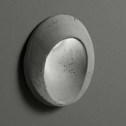Ovale buitenwandlamp in gekleurde klei Oval - Toscot