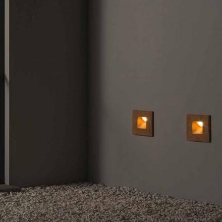 Vierkante buitenwandlamp in gekleurde klei Square - Toscot