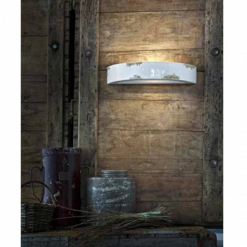 Wall light vintage crescentische keramische Helen Ferroluce