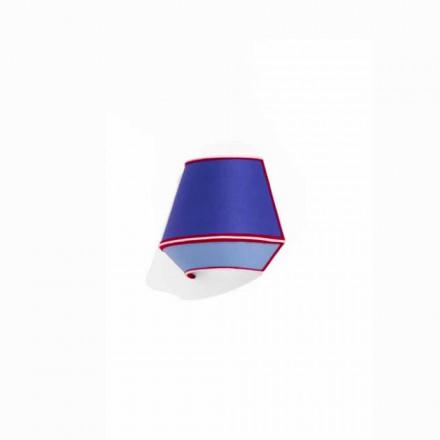 Design applique in blauw katoen met rode en witte details Made in Italy - soja