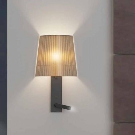 Design wandlamp met structuur in zwart metaal en organza Made in Italy - Boom