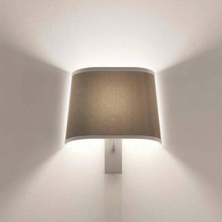 Design wandlamp in metaal met zilveren of witte afwerking Made in Italy - Jump