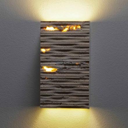 Buiten stenen wandlamp Serafini Marmi Petra Out, made in Italy