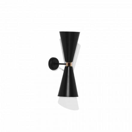Moderne wandlamp met matzwarte metalen structuur Made in Italy - Zaira