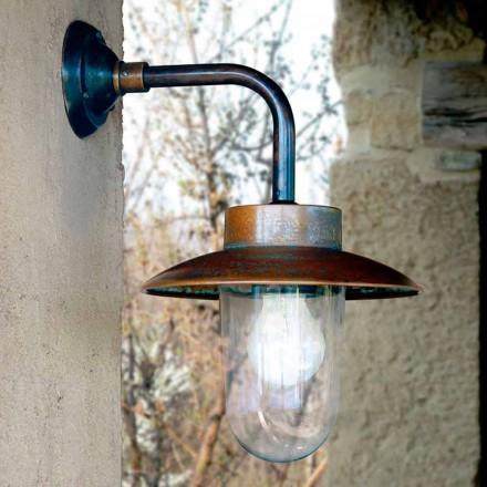 Applique Nabucco, koper wandlamp, glas, messing