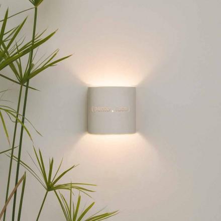 Moderne tweekleurige nebuliet wandlamp In-es.artdesign Punto Luce design