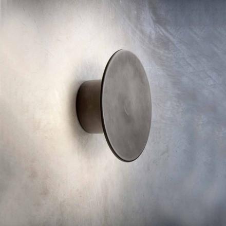 Wandlamp voor moderne buitenkant in koper Made in Italy - Pasdedeux Aldo Bernardi
