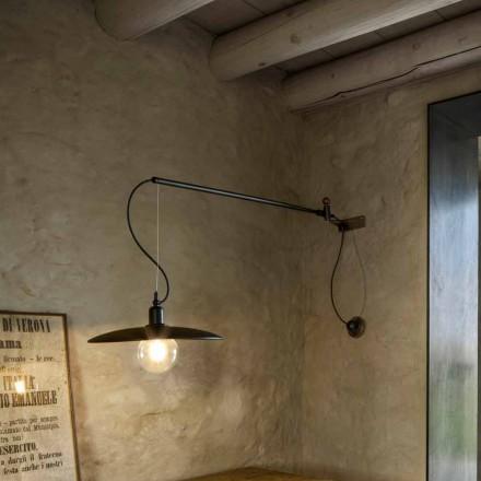 Vintage messing wandlamp met beweegbare arm - Meridiana Aldo Bernardi