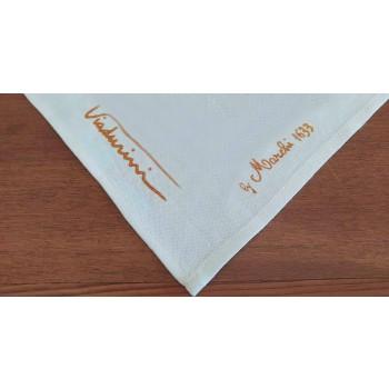 Handgedrukte artistieke katoenen handdoek Uniek Italiaans ambachtelijk stuk