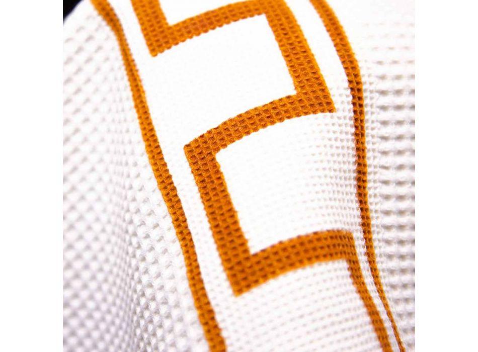 Eendelige Italiaanse katoenen handgedrukte kunsthanddoek - merken