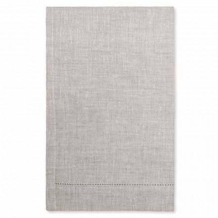 Witte of natuurlijke linnen badhanddoek Made in Italy - Chiana