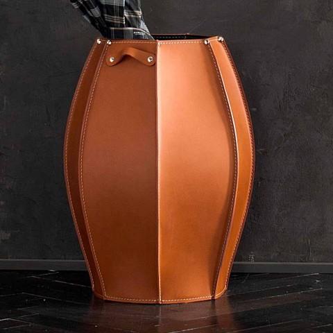 Audrey paraplustandaard met modern design in leer, gemaakt in Italië