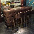 Barteller met glitterglazen blad Made in Italy, luxe - Calcutta