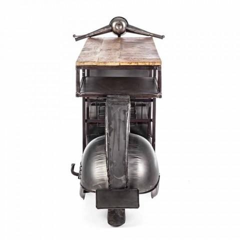 Barconsole in mangohout en Vespa in modern design - sjalot