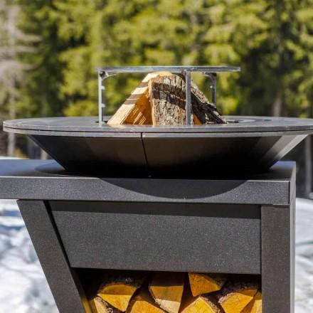 Met kookplaat en houthoudercompartiment - Giorgione