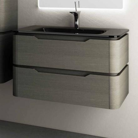 Moderne design hangende gootsteenbasis 85x55x55cm Arya gelakt hout