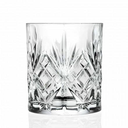 Dubbel ouderwets glas, vintage stijl ecokristal 12 stuks - Cantabile