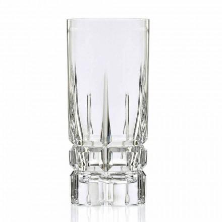 Highball Cocktailglas Tumbler Hoog 12 Stuks in Eco Kristal - Fiucco