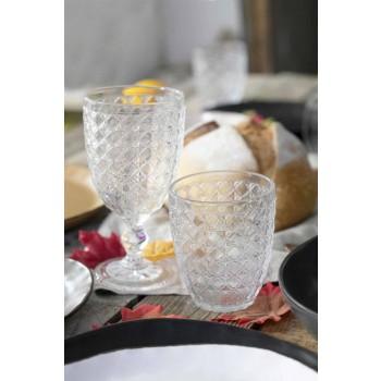 Serveerglazen 12 stuks in transparant glas voor water - optisch